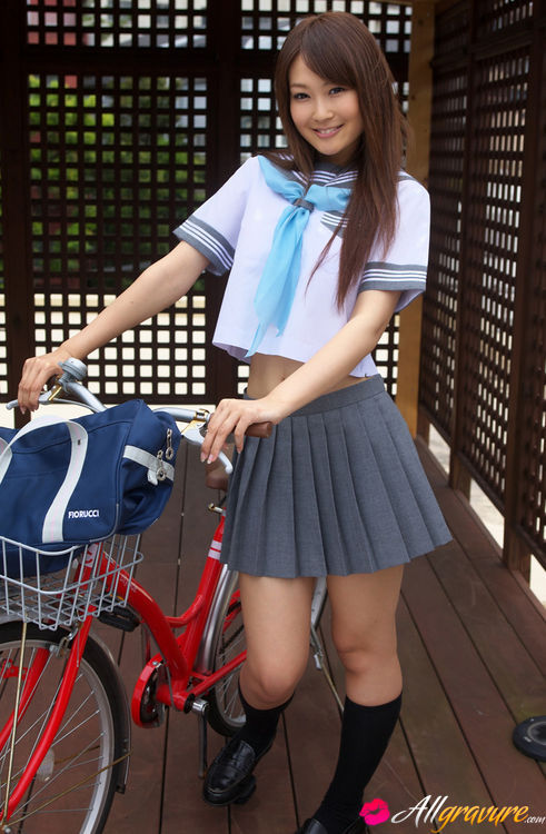Nude asian on bike site, with
