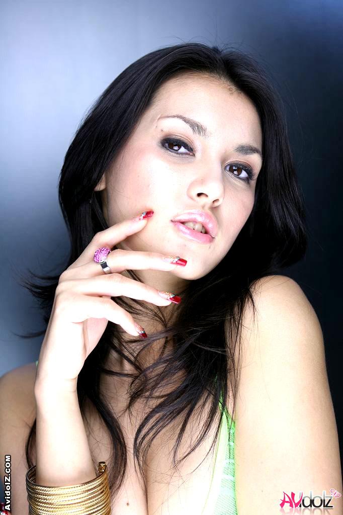 Green Eyes Asian Nude - Hot Maria Ozawa teasing in mini green skirt