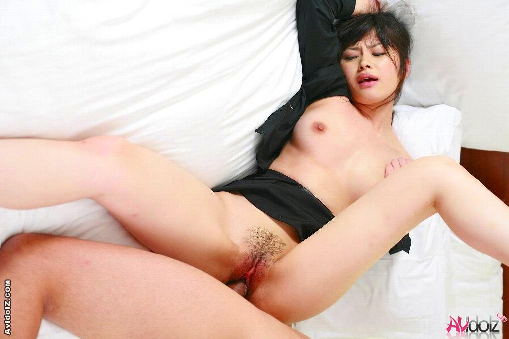 Hot asian babe Haruna Ayase vibrator and penis pleasure